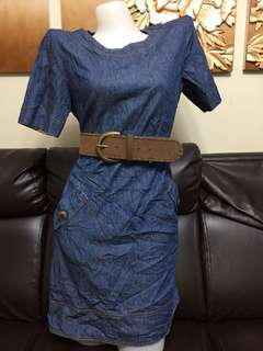 denim dress belt not included