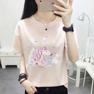 Plus Size Cute Unicorn Shirt Top Tee Up To 75KG [PO]
