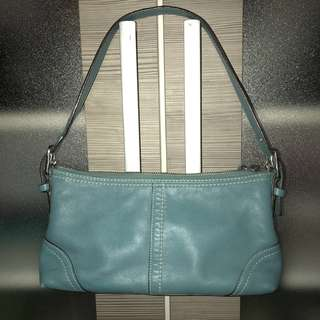 Authentic Coach Leather Pochette
