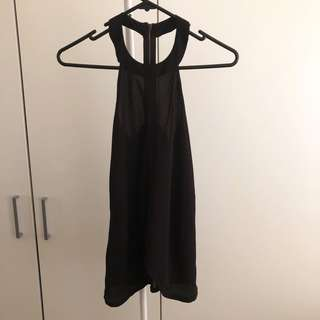 Beginning Boutique Black Halter Neck Top