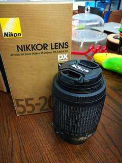 Nikon Lens - AF-S DX VR Zoom Nikkor 55-200mm f/4-5.6G IF-ED