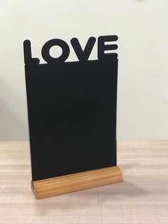L.O.V.E table chalkboard silhouette (rental only)