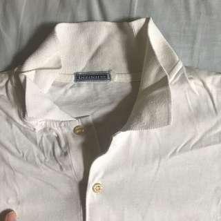 (NEW!) White Polo Shirt