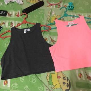 Hnm crop tee 2pcs new