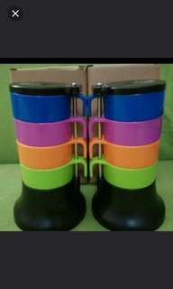 Colourful Small Cups Set of 4 Pcs