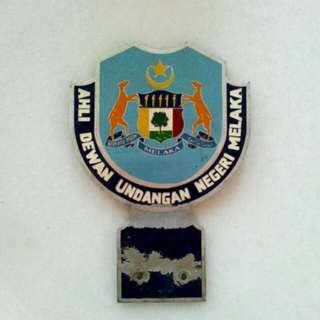Ahli Dewan Undangan Negeri Melaka Adun Car Badge Vintage