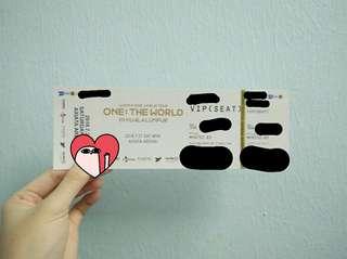 Wanna One World Tour in KL ticket