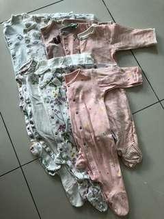 (Preloved) Babies sleeping rompers/bodysuit