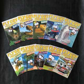 💥NEW-  Scholastics Fly Guy Presents Non friction set of 10 books  - Children Learning books