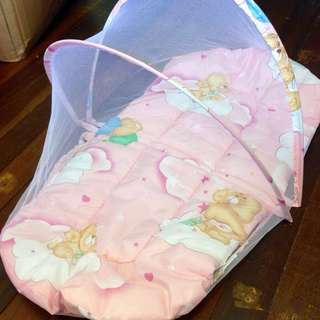 Baby bed with mosquitoes net