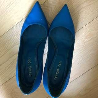 Sergio Rossi 藍色heels
