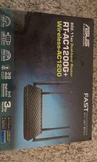 Asus dual band router RT-AC1200G+