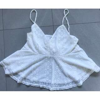 Temt Woman's Laced Crop Top Size S - Excellent Condition