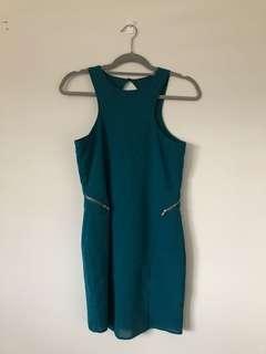 Sheer Mini dress in Teal
