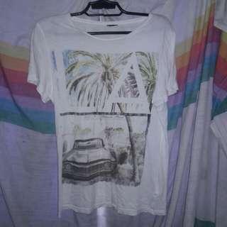 H&M summer feels print shirt