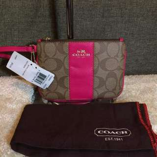 Authentic Coach Wristlet With Dustbag