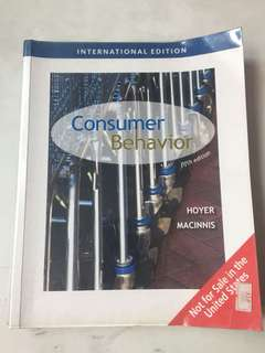 Consumer behaviour Hoyer MacInnis MKT3402