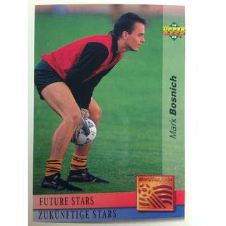 Mark Bosnich (Australia) - Soccer Football Card #128 (Future Stars) - 1993 Upper Deck World Cup USA '94 Preview Contenders
