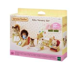Brand new Sylvanian Families Baby Nursery Set