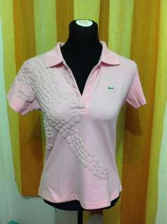 ORIGINAL Pink Lacoste Shirt (Medium-Large frame) flaw washable dirt