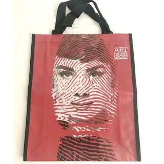 Audrey Hepburn Art portrait with fingerprint shopping tote bag 環保購物袋