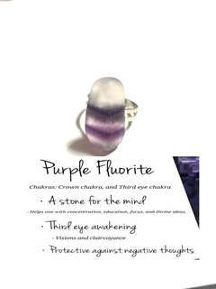 Fluorite purple Ring