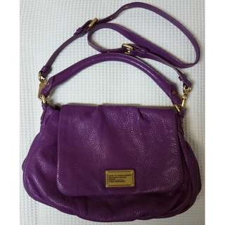 MARC JACOBS Purple Leather Handbag