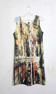 Printed fit dress