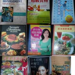 二手書 原文書 工具書 電腦書 食譜 管理學 超級食物 美魔女 西式餐點食譜 減重食譜 美體書
