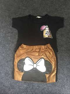 Top and skirt minnie