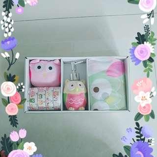 [Brand New] Cute Owl Bath Set