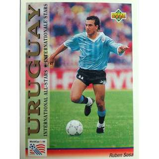 Ruben Sosa (Uruguay) - Soccer Football Card #121 (International All-Stars) - 1993 Upper Deck World Cup USA '94 Preview Contenders