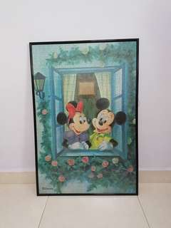 Disney Mickey & Minnie Art Piece