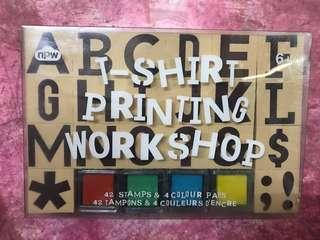 T-shirt printing stamps