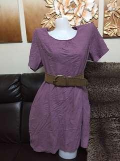 violet casual big dress