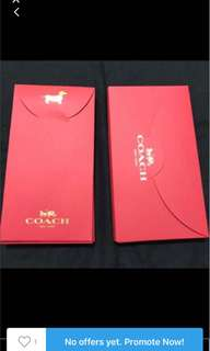 Authentic Coach Red Packet.