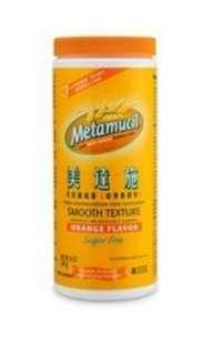 美達施 Metamucil 車前子 纖維素 (橙味) 無糖版更健康 排便容易 減肥飽肚