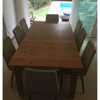 IKEA Wood Extendable Dining Table Stornas