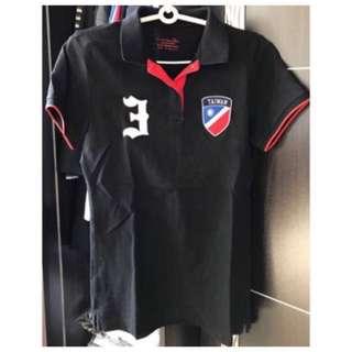 Giordano黑色短袖T恤(M)