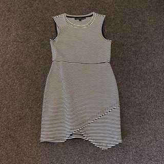 Topshop petite stripped bodycon dress