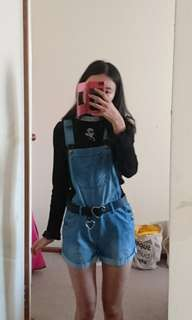 Denim overalls size 4/6