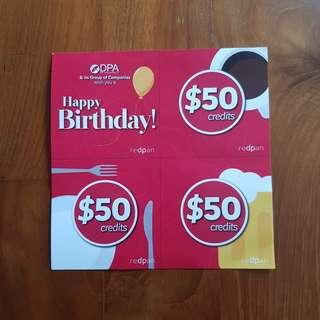 3 x $50 REDPAN VOUCHER