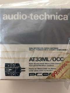 Audio-technica AT33ML/OCC CARTRIDGE STYLUS VINYL NEEDLE TURNTABLE RECORD PLAYER DJ