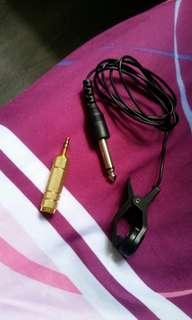 contact microphone + 6.5mm to 3.5mm audio jack adapter
