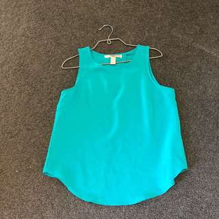 Forever 21 teal open back top