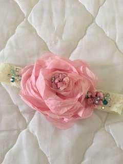Headband - Big pink flowers