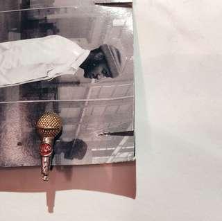 銅色咪耳環(耳夾)