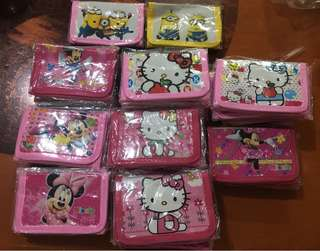 Hello kitty cars ben10 minnie mouse wallet