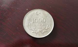 Turkey Lira vintage currency coin土耳其里拉币