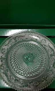 🚚 玻璃盤組【日系古早花紋盤】